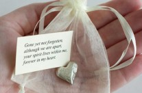 Memorial Heart Pocket Charms
