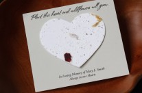 Wildflower Seed Heart Card